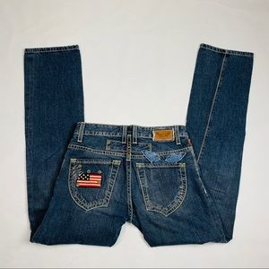 Robins Jeans Med Wash Selvedge Straight Fit  30x34